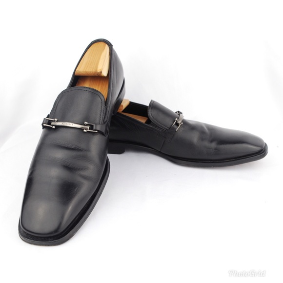 85c76e558c2 BOSS Hugo Boss Men s Black Leather Horsebit Loafer